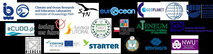grafika z logotypami organizacji zaangażowanych w konferencję
